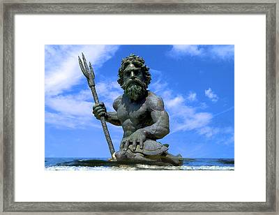 King Triton Framed Print