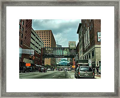 King Tut In Indy Framed Print by Julie Dant