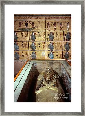 King Tutankhamuns Tomb Framed Print by John G. Ross