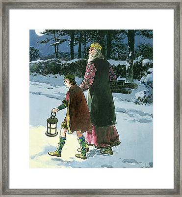 King Wenceslas From Peeps Framed Print