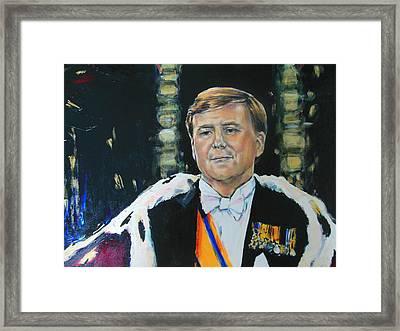 King Willem Alexander Framed Print by Lucia Hoogervorst