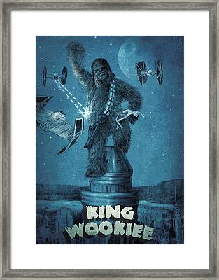 King Wookiee Framed Print by Eric Fan