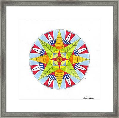 Kingdom Mandala Framed Print by Silvia Justo Fernandez