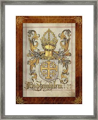 Kingdom Of Jerusalem Medieval Coat Of Arms  Framed Print