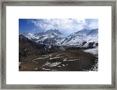Kingdom Of Mustang - Nepal Framed Print by Aidan Moran