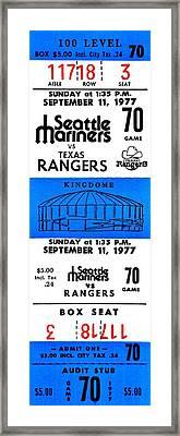 Kingdome Baseball Framed Print