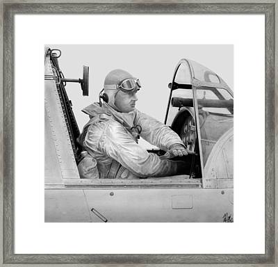 Kingfisher Pilot Framed Print by Lyle Brown