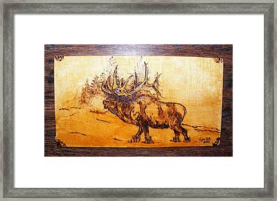 Kingof Forest-wood Pyrography Framed Print by Egri George-Christian