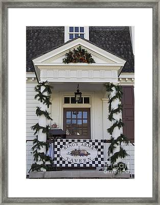 Kings Arms Tavern In Williamsburg Virginia Framed Print