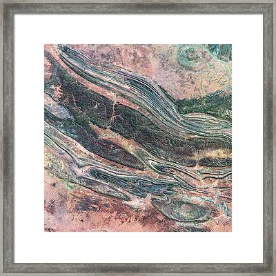 Kings Canyon Framed Print by Us Geological Survey
