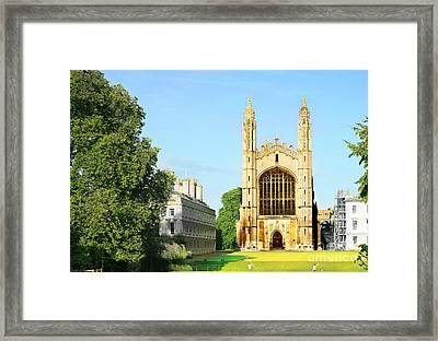 King's College Chapel Framed Print by Eden Baed