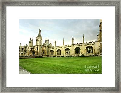 King's College Facade Framed Print by Eden Baed