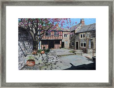 Kings Court, Bakewell, Derbyshire, 2009 Oil On Canvas Framed Print
