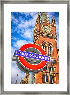 Kings Cross Underground Framed Print