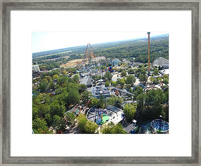 Kings Dominion - 121212 Framed Print by DC Photographer