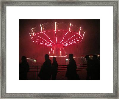 Kings Dominion - 121229 Framed Print by DC Photographer
