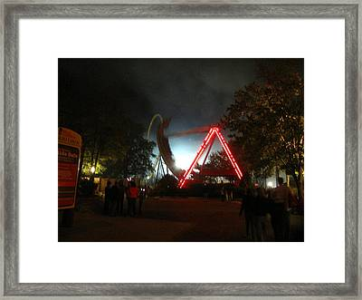 Kings Dominion - 121230 Framed Print by DC Photographer