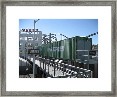 Kings Dominion - Back Lot Stunt Coaster - 12121 Framed Print