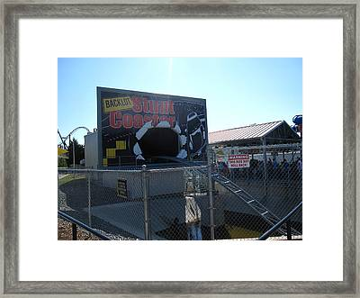 Kings Dominion - Back Lot Stunt Coaster - 12123 Framed Print by DC Photographer
