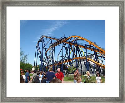 Kings Dominion - Dominator - 01131 Framed Print by DC Photographer