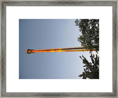 Kings Dominion - Drop Tower - 12125 Framed Print by DC Photographer