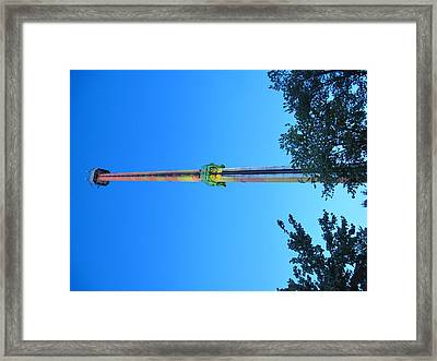Kings Dominion - Drop Tower - 12126 Framed Print by DC Photographer