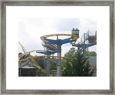 Kings Dominion - Ricochet - 01132 Framed Print by DC Photographer