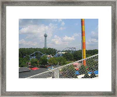 Kings Dominion - Shockwave - 01132 Framed Print by DC Photographer
