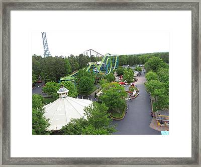 Kings Dominion - Shockwave - 01133 Framed Print by DC Photographer
