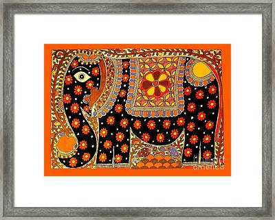 King's Elephant-madhubani Paintings Framed Print