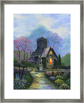 King's Garden Framed Print by Bonnie Cook