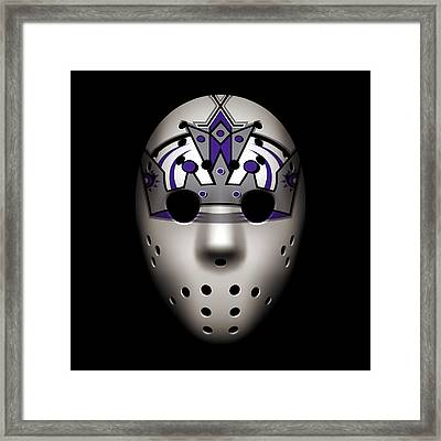 Kings Goalie Mask Framed Print by Joe Hamilton