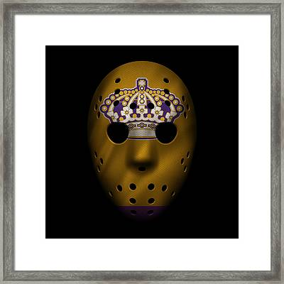 Kings Jersey Mask Framed Print