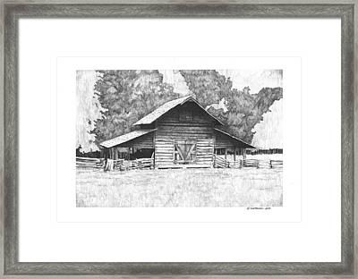 King's Mountain Barn Framed Print