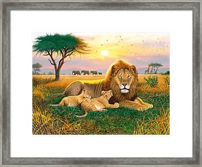 Kings Of The Serengeti Framed Print