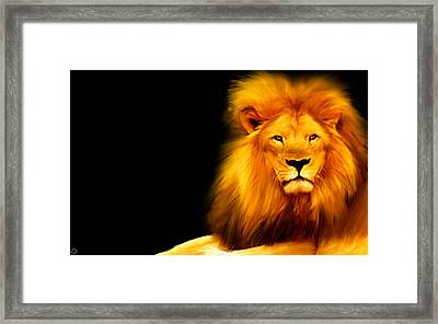 King's Portrait Framed Print by Lourry Legarde