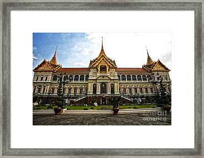 King's Temple Framed Print by Thanh Tran