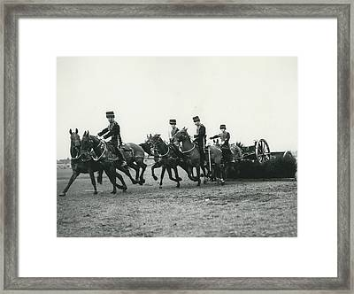 King�s Troop Of The R.h.a. Rehearse�. Even The Gun Goes Framed Print by Retro Images Archive