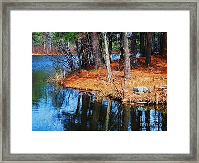Reflections At Kingsbury Pond, Medfield Framed Print