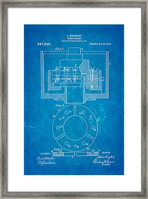 Kingsbury Thrust Bearing Patent Art 1910 Blueprint Framed Print by Ian Monk