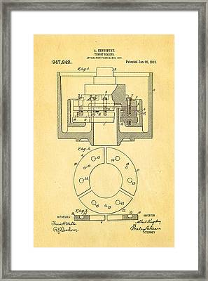 Kingsbury Thrust Bearing Patent Art 1910 Framed Print by Ian Monk