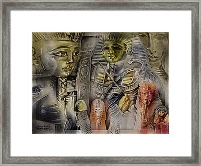 Framed Print featuring the pastel Kingtutcomp 2010 by Glenn Bautista