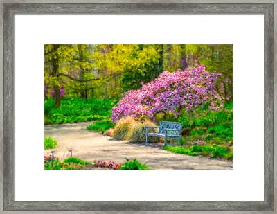 Kingwood Gardens Framed Print by Mary Timman