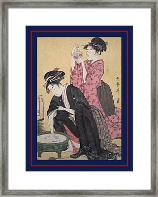 Kingyo = Goldfish, Kitagawa, Utamaro 1753-1806 Framed Print by Artokoloro