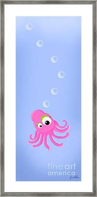 Kiniart Octopus Framed Print by Kim Niles