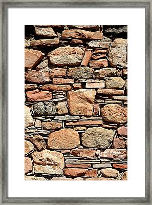 Kinishba Masonry Framed Print by Joe Kozlowski