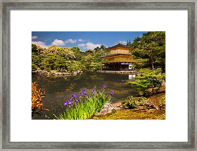 Framed Print featuring the photograph Kinkaku-ji by Brad Brizek