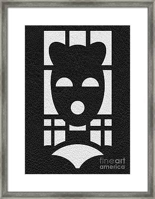 Kinky Time Mask Framed Print