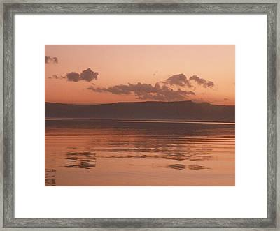 Kinneret Ripples At Dusk Framed Print by Noreen HaCohen