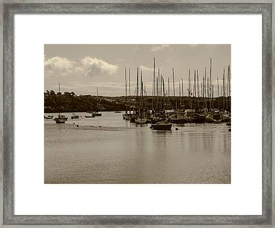 Kinsale Harbor At Dusk Framed Print by Winifred Butler